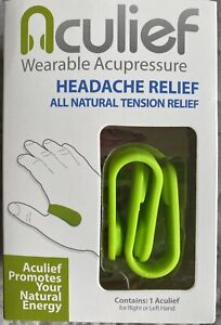 Aculief Wearable Acupressure Natural Headache, Migraine, Tension Relief 4pcs