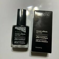 Avon Mosaic Effects (J) Top Coat .4oz NIB Black Nail Enamel polish