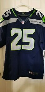Nike Seattle Seahawks Elite Jersey Richard Sherman #25- Navy- Men's Sz 48 (XL)