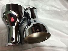 2 harley shovel 4'' LONG MEGAPHONE MUFFLER BELL TIPS, ,2 7/8'' I.D.