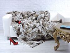 Luxury Reale ORYLAG CHINCHILLA MIRANDA pelli tiro coperta naturale 195 CM x 140 CM, i846