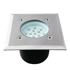 Bodeneinbauleuchte LED Bodeneinbaustrahler GORDO 0.7W SMD eckig Edelstahl weiß