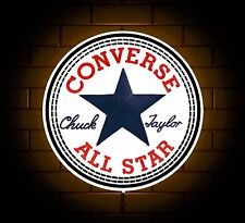CONVERSE CLOTHING BADGE SIGN LED LIGHT BOX MAN CAVE RETRO GAMES ROOM ALL STAR