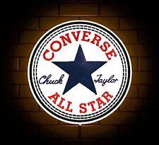 Signo distintivo de ropa Converse Luz LED Caja Cueva de hombre Retro games room All Star