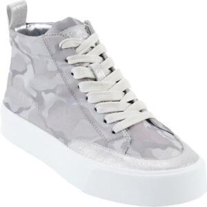 DKNY Womens Rivka Gray Canvas High Top Sneakers Shoes 7 Medium (B,M) BHFO 3655