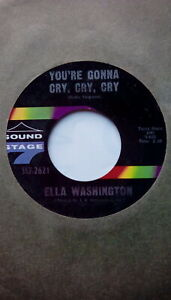 """Northern Crossover 60's Soul 7""""-Ella Washington-You're Gonna Cry,Cry,Cry-US SS7"""