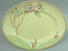 CLARICE CLIFF ART DECO CHIPPENDALE TREES NEWPORT POTTERY OVAL PLATE 1930's