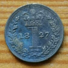 More details for 1827 george iv silver maundy 1d one penny coin *