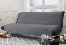 Reversible 3-in-1 Armless Furniture Cover futon/sofa  Light Gray/Dark Gray