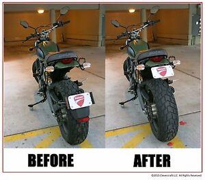 MADE IN USA Ducati Scrambler Icon Urban Enduro License Plate Relocator Tail Tidy