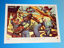 Marvel Universe Classic Sixties Lithograph Art by Steve Rude Spider-Man Hulk