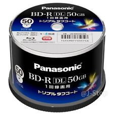NEW Panasonic LM-BRS50L50S BD-R DL 50GB 4x Speed Inkjet Printable Bluray JAPAN