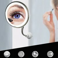 uk 10X Magnifying Makeup Mirror LED Light Cosmetic Flexible 360 Degree Rotation