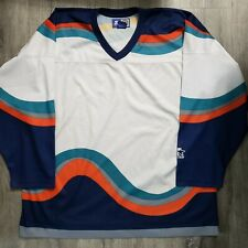 New York Islanders Fisherman Starter Jersey - XL - No Crest or Patches