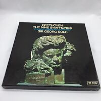 Beethoven The Nine Symphonies 9 LP Vinyl Box Sir Georg Solti Decca Records VGC
