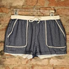 Rebecca Minkoff Womens Shorts Blue White Size M Athletic Casual Drawstring Waist
