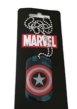 Marvel Comics Captain America Shield Enamel Dog Tags Chain New With Tags