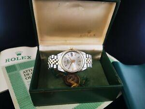 Rolex Datejust 1601 36mm Vintage Alladin Corporate Logo Dial 1570 Swiss