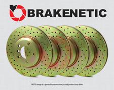 [FRONT + REAR] BRAKENETIC SPORT Cross DRILLED Brake Disc Rotors BSR84522