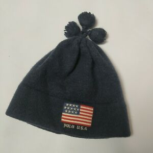 Vintage Polo Ralph Lauren USA Wool Kids Hat Boys 1-2 years