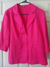 Notations hot pink button up blouse womens size Large