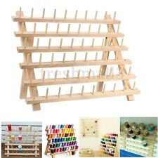 60 Spool Wood Sewing Thread Rack Stand Organizer Craft Embroidery Storage Holder