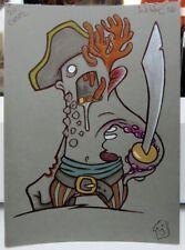 HappyToast, Zombie Sailor, Halloween, Original artwork, A5, Signed, Inktober