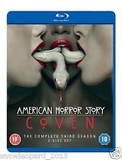 AMERICAN HORROR STORY COMPLETE SERIES 3 Blu Ray All Eps. Third 3rd Season UK New