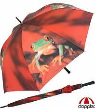 Doppler Regenschirm gross Partnerschirm Golfschirm Automatik XXL rot Frosch