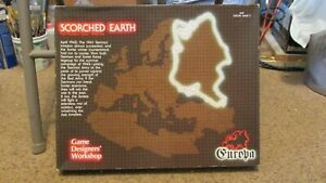 GDW: Europa/ Scorched Earth; Unpunched Version 1.5 w/ Official Reprint Counters