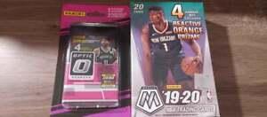 2019-20 Panini mosaic basketball hanger box + Donruss optic 2 pack lot