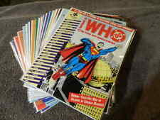 1990 DC Comics WHO'S WHO IN THE DC UNIVERSE #1-16 + Updates #1-2 Complete VF/MT