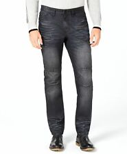 $134 Inc International Men's 38W 30L Black Jeans Slim Straight Fit Denim Pants