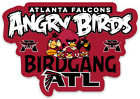 Atlanta Falcons Angry Birds Bird Gang Logo Type NFL Football Die-Cut MAGNET
