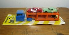 RARE VINTAGE MIDGETOY CAR CARRIER TRANSPORT TRUCK WITH 2 CARS MINT IN PACKAGE