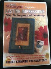 Craft Stamper - Lasting Impressions - DVD - BN Card, crafts, kids craft