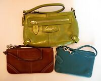 LOT OF 3!!!  COACH WRISTLETS GREEN, BROWN, TEAL