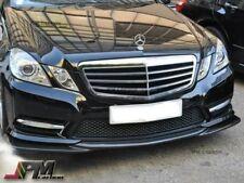 For W212 E250 E350 E550 Sedan 10-13 Carbon Fiber GH Style Front Bumper Lip