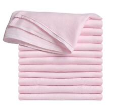 Clips N Grips Birdseye Flatfold Cloth Diapers (Baby Pink)