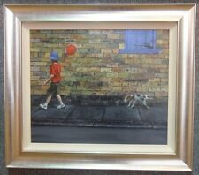 Follow The Red Balloon by Marvin Johnson - Original - Framed - Brand New