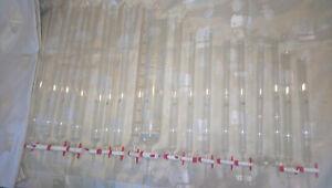 glass chromatography columns - 18 pieces