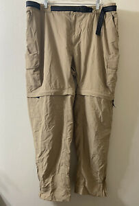 Magellan 3XL Convertible Fish Gear Zip Pants Tan Beige