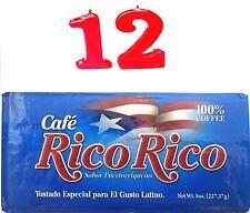 Cafe Rico Rico coffee ground espresso  (12) x 8 oz bags puertorrico cafe molido