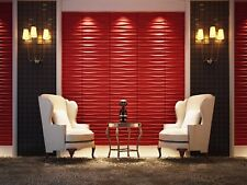 Eco-friendly ! Paintable, 3m2 DIY 3D Wall Panels, glue on wall tiles, Brandy
