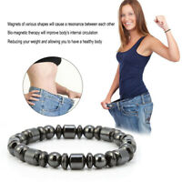 Black&Magnetic Bracelet Hematite Stone Therapy Health Care Weight Loss Jewelry