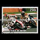 ★ RACING / HONDA VTR 100 SP1 ★ BENIN Timbre Moto / Motorcycle Stamp #451