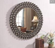 Selena Smoke Crystal Surround Wall Mirror Contemporary Style