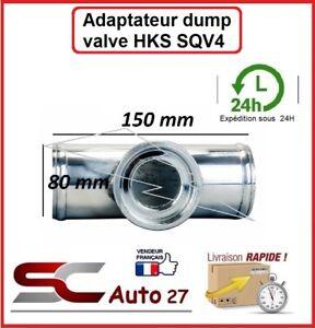 T / adaptateur en alu convient dump valve pour HKS SQV4 80 MM de diamètre