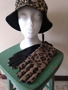NEW Women's Animal Print Leather Gloves New with tags