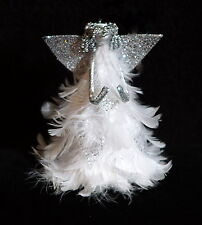 Miniature Christmas Angel Feather Tree Topper w/ Real Feathers - NWT